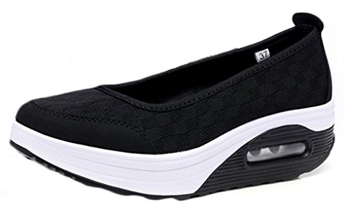 la verano mujeres los Deslizamiento solamente negro zapatos las plataforma suaves de NEWZCERS respirable simple de del en W1qpUn6UY