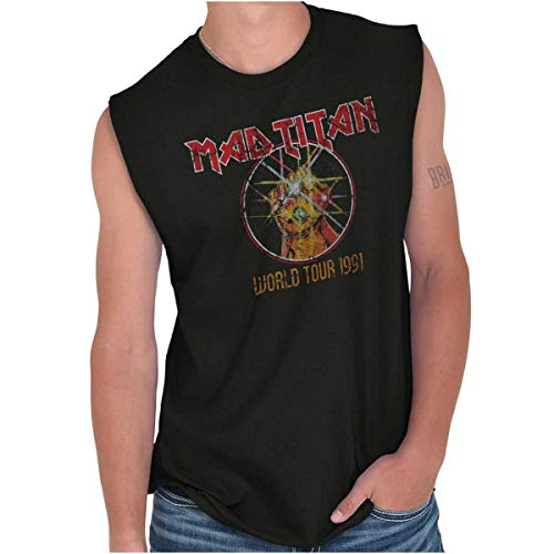 - Villain World Tour Funny Comic Book Nerd Sleeveless T Shirt Black
