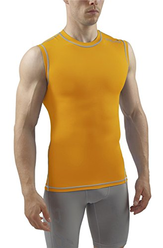 Sub Sports Mens Sleeveless Compression Top Base Layer Tank Top Vest -S