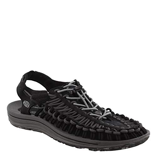 KEEN Men's Uneek Slipper, Black/Magnet, 10.5 M US