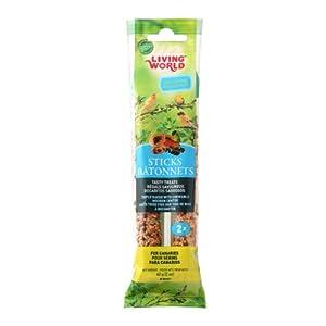 Living World Canary Fruit Treat Sticks, 2-Ounce 108