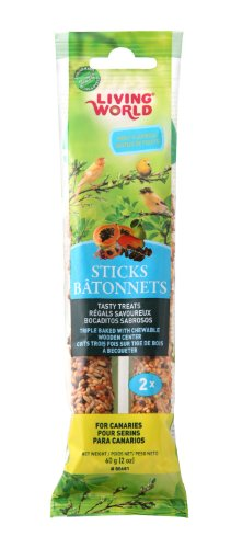 Living World Canary Fruit Treat Sticks, 2-Ounce - Finch Stick