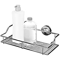 Bathla Dual Suction Stainless Steel Shelf/Rack (Silver) - with Twist Lock Technology for Instant Installation