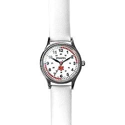 Dakota 56548 Nurse Watch- Women's- Leather- White