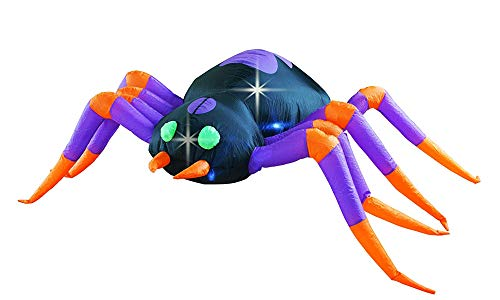 SEASONBLOW 8 Ft Halloween Spider Decoration Inflatable Huge Spiders Decorations Inflatables Decor for Home Yard Lawn Garden Indoor Outdoor]()