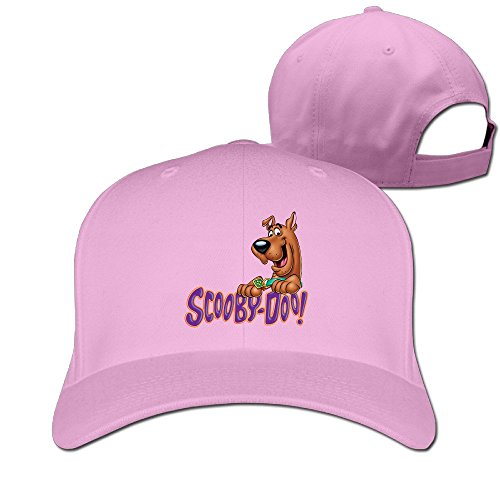 [Runy Custom Scooby Doo Logo Adjustable Hunting Peak Hat & Cap Pink] (Ylvis Fox Costume)