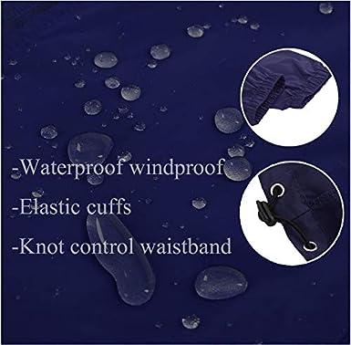 FISOUL Mens Raincoats Lightweight Windbreaker Rain Jacket Active Outdoor Hooded Waterproof Trench Coats