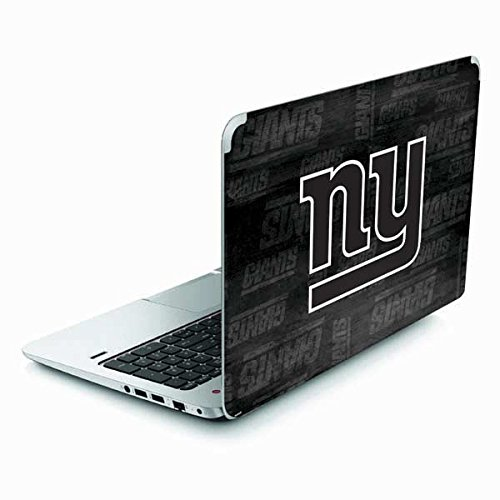 Skinit NFL New York Giants Envy TouchSmart 15.6in Skin - New York Giants Black & White Design - Ultra Thin, Lightweight Vinyl Decal Protection by Skinit