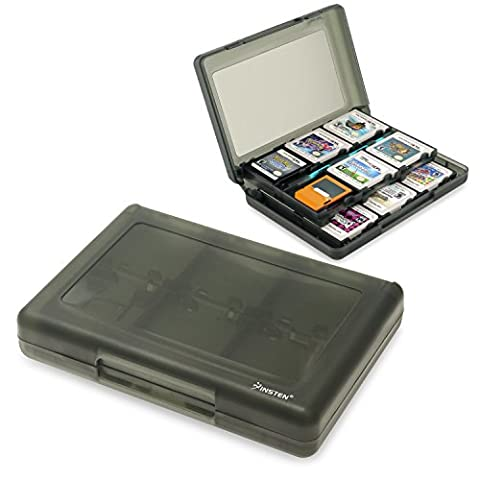 Insten 28-in-1 Game Card Case for Nintendo NEW 3DS / 3DS / DSi / DSi XL / DSi LL / DS / DS Lite Cartridge Storage Solution Box, (Minecraft Nds)