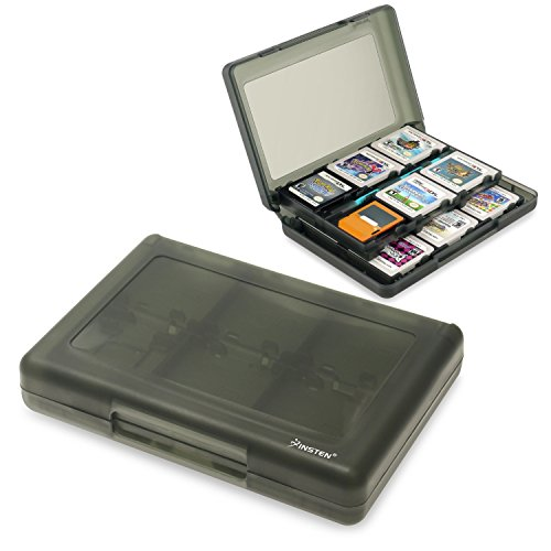 Insten 28-in-1 Game Card Case for Nintendo NEW 3DS / 3DS / DSi / DSi XL / DSi LL / DS / DS Lite Cartridge Storage Solution Box, Black