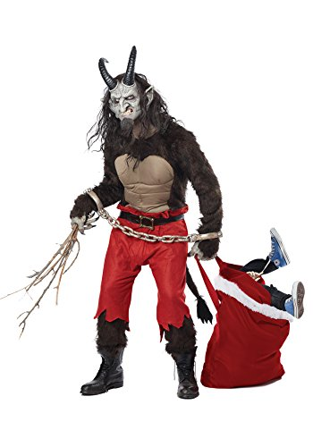 Krampus Costumes - California Costumes Men's Krampus the Christmas Demon, Brown/Red, X-Large