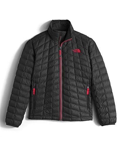 The North Face Boy's Thermoball Full Zip Jacket TNF Black/TNF Red