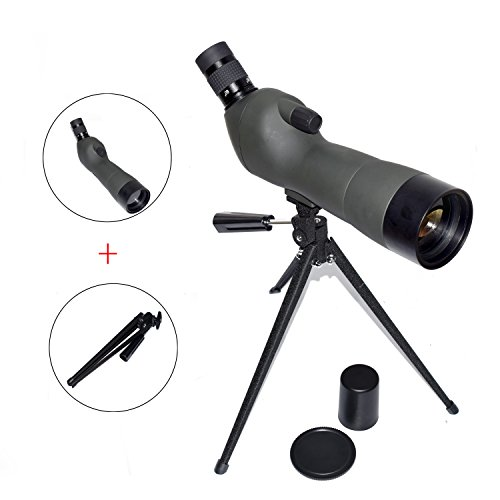 Find Cheap OTW Spotting Scope Prism Zoom Monocular Waterproof 45-Degree 20-60x60AE Comfortable Angle...