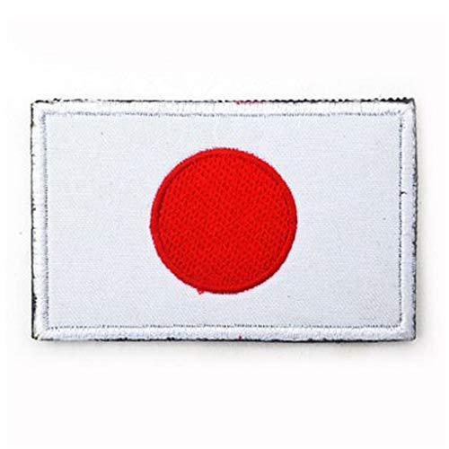 ShowPlus Japan JP Flag Military Embroidered Tactical Patch Morale Shoulder Applique