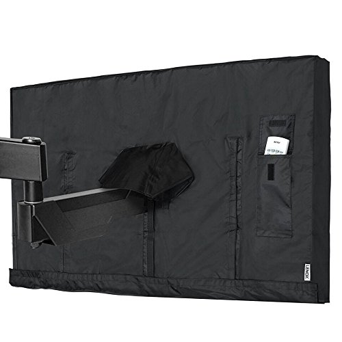 Vaiyer Outdoor TV Cover 40-43 Inch LED Flatscreen TV With Bottom Cover | Weatherproof and Dust-Proof Material | Universal Wall Mount Wall Bracket and Stand Compatible by Vaiyer