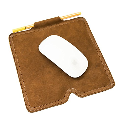 Soft Leather Mouse Pad with Pen Holder Handmade by Hide & Drink :: Swayze (Halloween Party Asu)