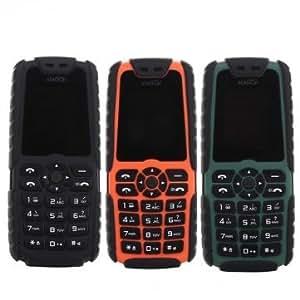 Tanzimarket - Xiaocai alta calidad X6 1.77 pulgadas de teléfono móvil al aire libre con el cargador del móvil - Green