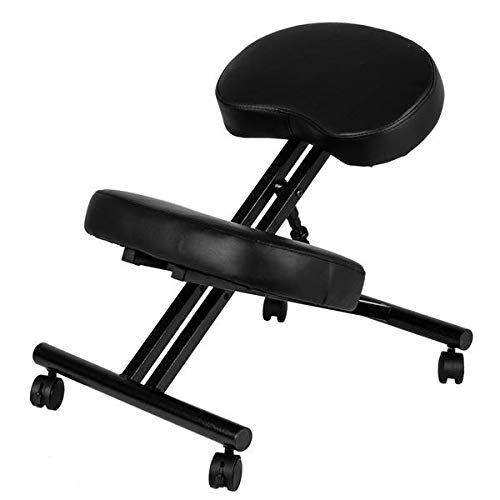 Ergonomic Kneeling Chair Adjustable Height Stool for Home and Office - Improve Your Posture with an Angled Seat Corrective Chair, Knee Stool for Bad Back, Support, Neck Pain Relief, Computer Desk by CiAn