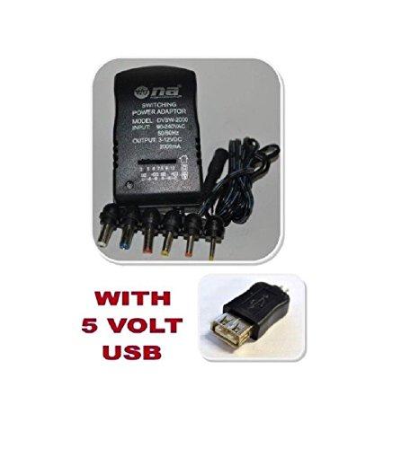 Nippon America 2000mA Universal Adapter Multiple AC 3v 5v 6v