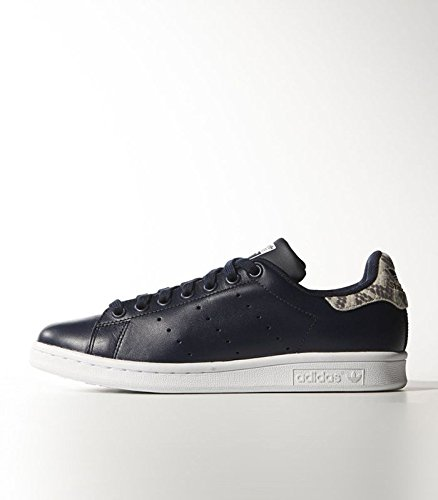 adidas Scarpe da Ginnastica Stan Smith Navy Blue-Snake, Blu (Blu),
