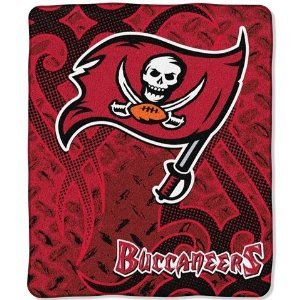 NFL Tampa Bay Buccaneers 50-inch-by-60-inch Raschel Plush Throw