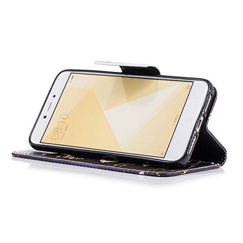 Funda Xiaomi Redmi 4X Carcasa, Mosoris PU Leather Flip Cover + TPU Silicona Interna Carcasa, Case con Cierre Magnético y Función de Soporte, Ranuras para Tarjetas y Billetera Tapa, Protectora Anti Ara Color. 06