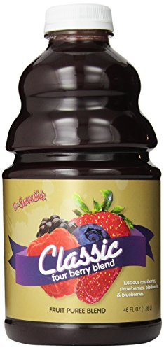 Dr. Smoothie Four Berry Classic Blend Smoothie Bottles, 46-Ounce Berry Smoothie