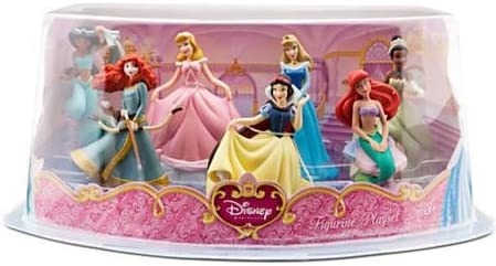DISNEY PRINCESS FIGURINE FIGURE PLAY SET 7 PIECE Cake Topper JASMINE MERIDA ARIEL TIANA SNOW WHITE CINDERELLA AURORA CLASSIC DOLLS