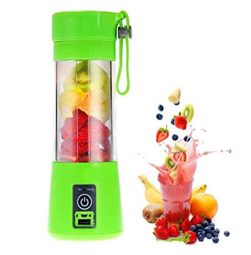 Portable USB Juicer Cup, KEBE Fruit Mixing Machine with USB Charger Personal Serve Rechargeable Blender Provide High Nutrient Fruit and Vegetable Juice