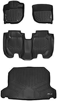 SMARTLINER Custom Fit Floor Mats 1st Row Liner Set Black for 2015-2019 Honda Fit 2016-2019 Honda HR-V