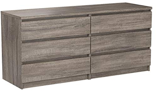 Tvilum Scottsdale 6 Drawer Chest in Truffle