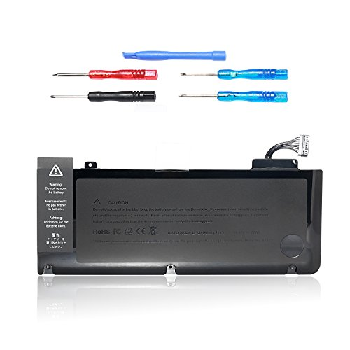 Laptop Battery A1322 For Apple MacBook Pro 13 Inch A1278 (2009 2010 2011 2012 Version),  Fit MB990 MB991 MC374 MC375 MC700 MC724 MD101 MD102 Battery  [6300mAh/10.95V/72Wh] ()