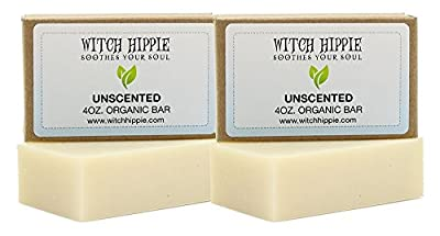 Unscented/ Sensitive Skin 4oz Certified Organic Soap Bar 2 Pack by Witch Hippie™