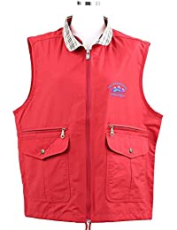 Red Color Womens Neck Pattern Outdoor Sport Casual Outerwear Vest Jackets