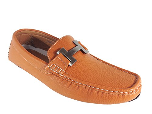 Enzo Romeo Payne03 Mens Casual Light Weight Driving Moccasins Slip On Loafer Shoes Tan HMb7mc