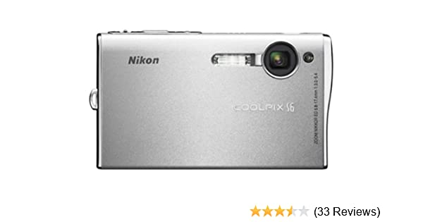 amazon com nikon coolpix s6 6mp digital camera with 3x optical rh amazon com Nikon Camera User Manual Nikon User Manual