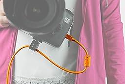 Tether Tools TetherPro USB 2.0 male to Mini-B 5 pin, 15 feet - Hi-Visibilty Orange