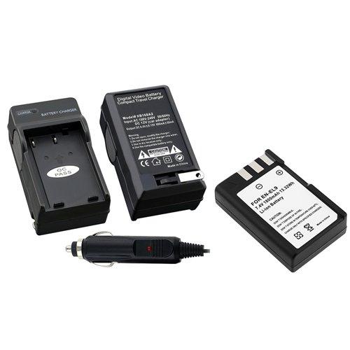 Everydaysource Battery + Charger EN-EL9 EN-EL9a MH-23 Compatible With Nikon D40X D40 D60 D5000 D3000 638827