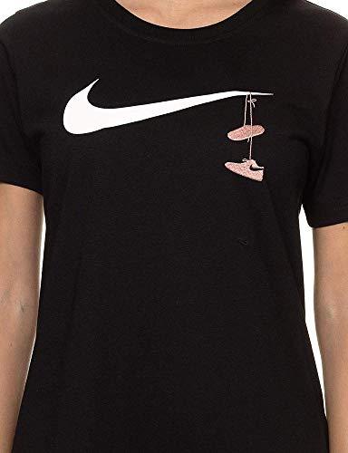 T da Swsh Embrd Nero Nero W Maglietta Nike T Bianco Shirt Nsw donna apzqYw6B
