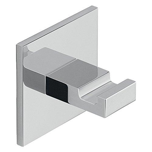 Adhesive Mounted Square Polished Chrome Aluminum Hook D127