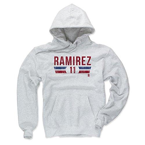 500 LEVEL Cleveland Indians Men's Hoodie - XXX-Large Ash - Jose Ramirez Font R