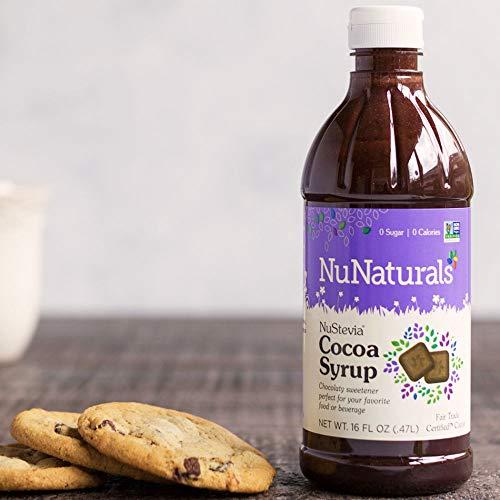 NuNaturals – NuStevia - Cocoa Syrup - 16 Ounce