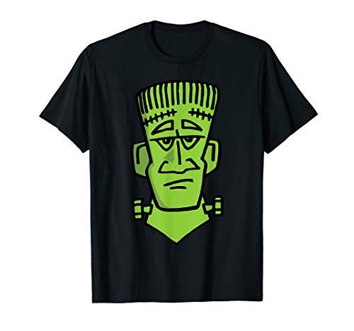 Funny Frankenstein Bust Halloween Horror Quick Costume T-Shirt