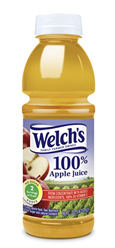 Welch's Apple Juice, 16 oz - Pk of 12