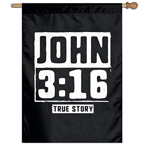 MSINSYzubSHUW John True Story Christian Garden Flag 27 X 37 Inch Size Banner for Party Home Outdoor Decor]()
