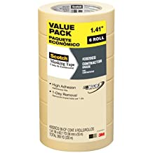 Scotch Contractor Grade Masking Tape, 2020CG-36-CP, 1.41-Inch by 60.1-Yards, 6 Rolls