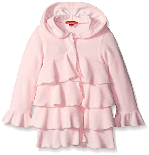 Kate Mack Little Girls' Toddler Long Sleeve Terry Swim Cover-Up, Pink, 2T