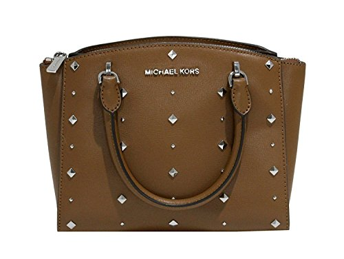 Michael Kors Women's Ellis Studded Small Satchel No Size (Luggage)
