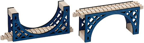 Reversing Arch Bridge - 8 inches - Made in USA Maple Arch