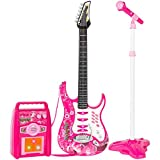 Best Choice Products Kids Electric Guitar Play Set W/ MP3 Player, Pink